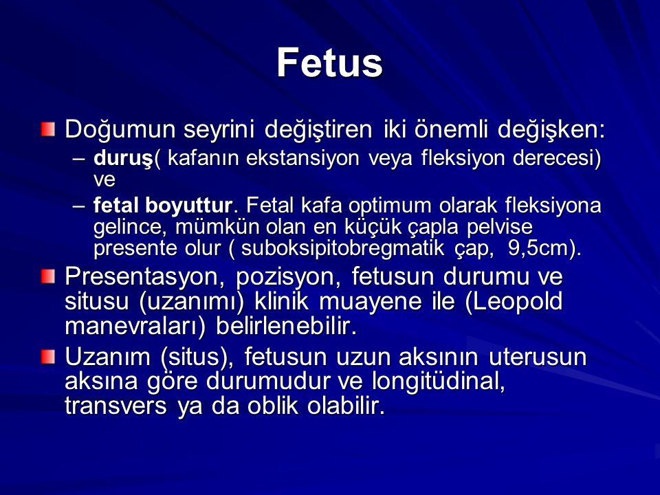 Fetus Doğumun seyrini değiştiren iki önemli değişken: