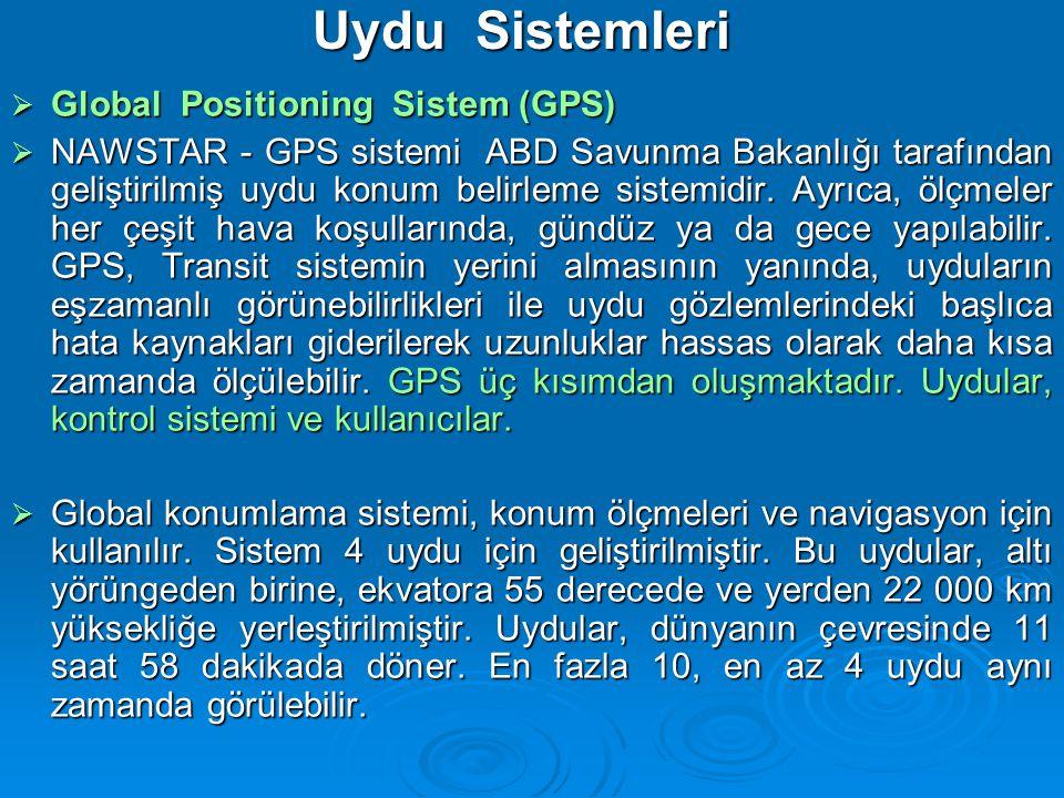Uydu Sistemleri Global Positioning Sistem (GPS)