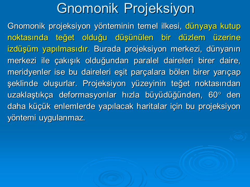 Gnomonik Projeksiyon