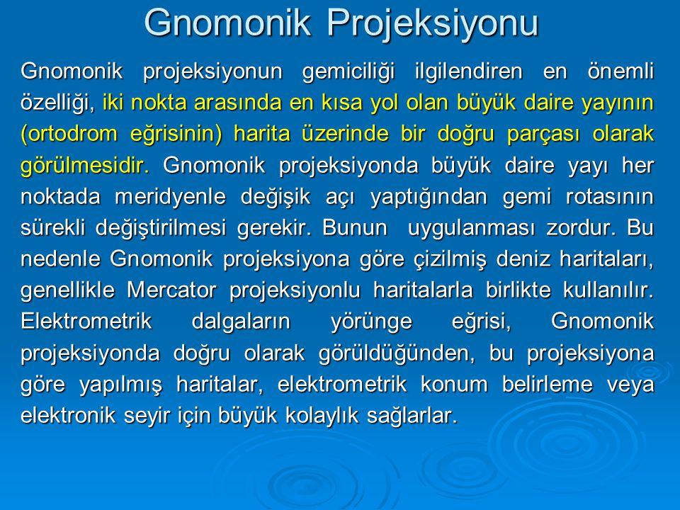 Gnomonik Projeksiyonu