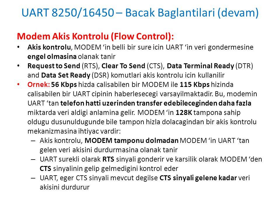 UART 8250/16450 – Bacak Baglantilari (devam)