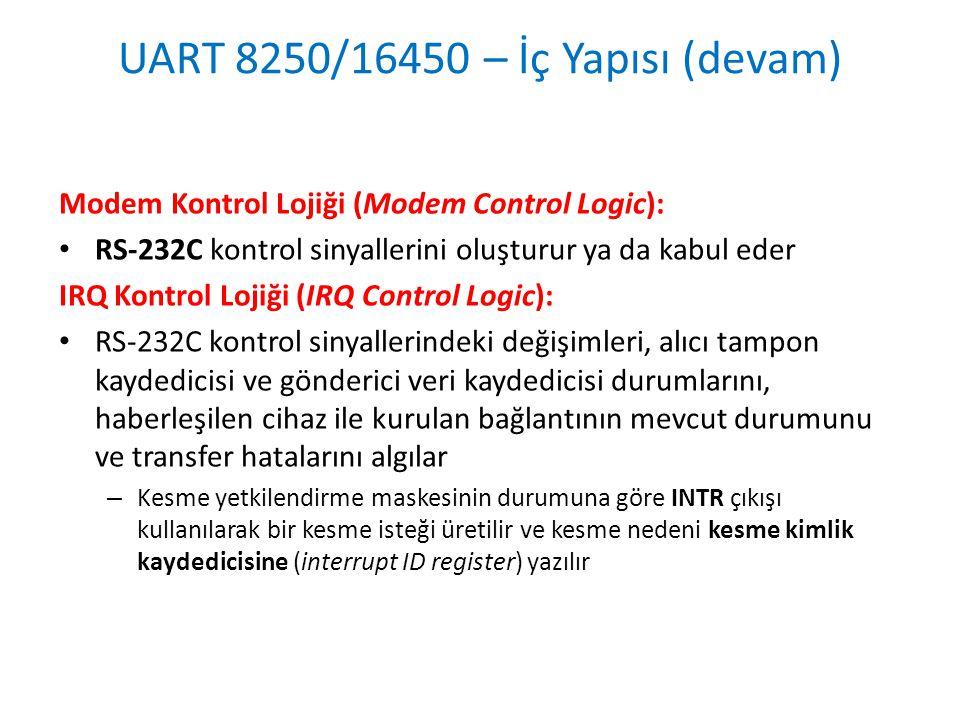 UART 8250/16450 – İç Yapısı (devam)
