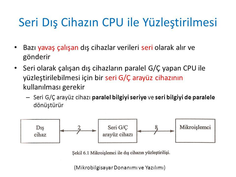 Seri Dış Cihazın CPU ile Yüzleştirilmesi