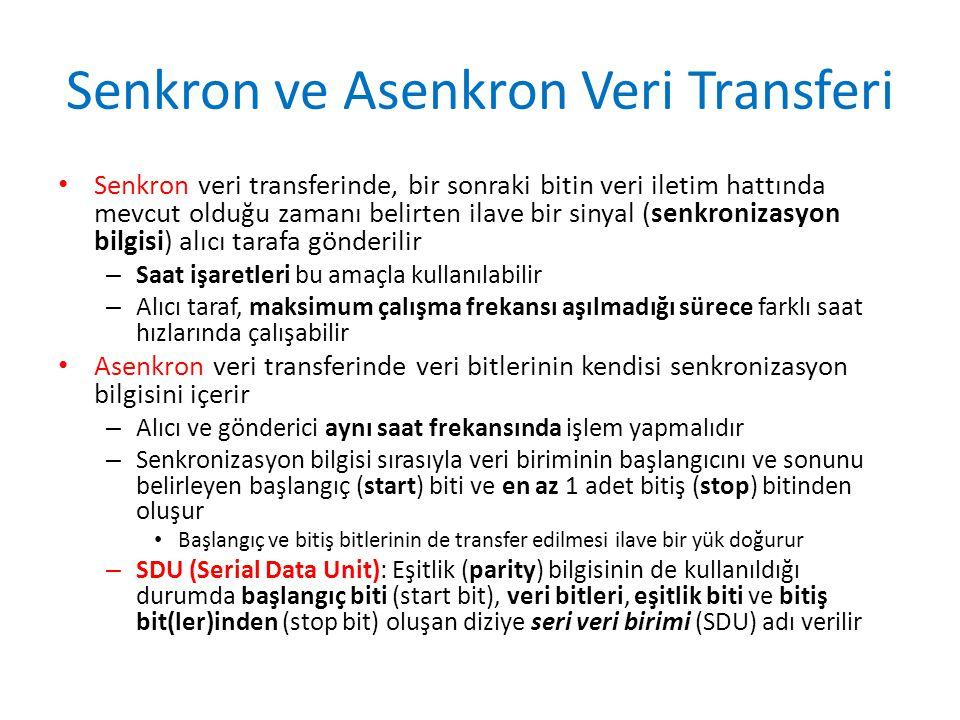 Senkron ve Asenkron Veri Transferi