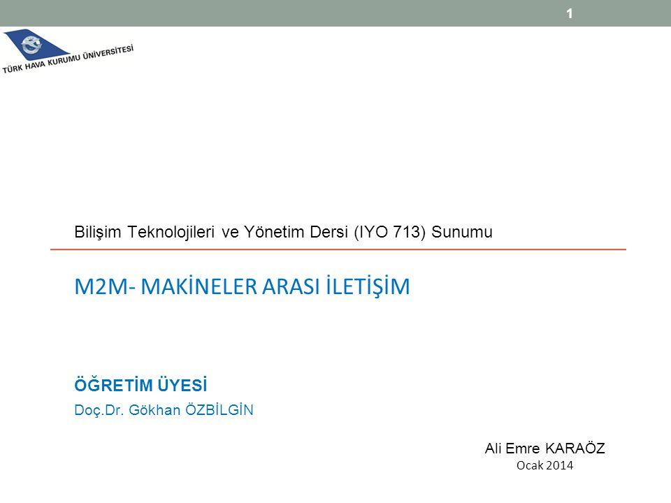 Bilişim Teknolojileri ve Yönetim Dersi (IYO 713) Sunumu