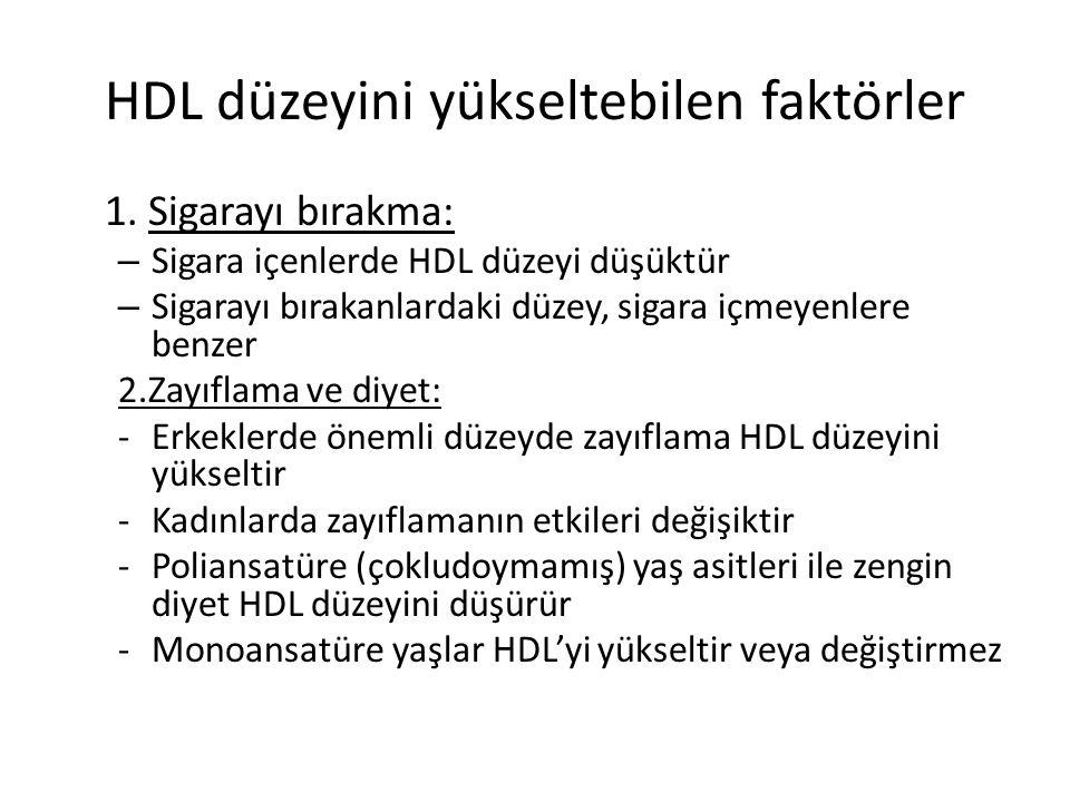 HDL düzeyini yükseltebilen faktörler