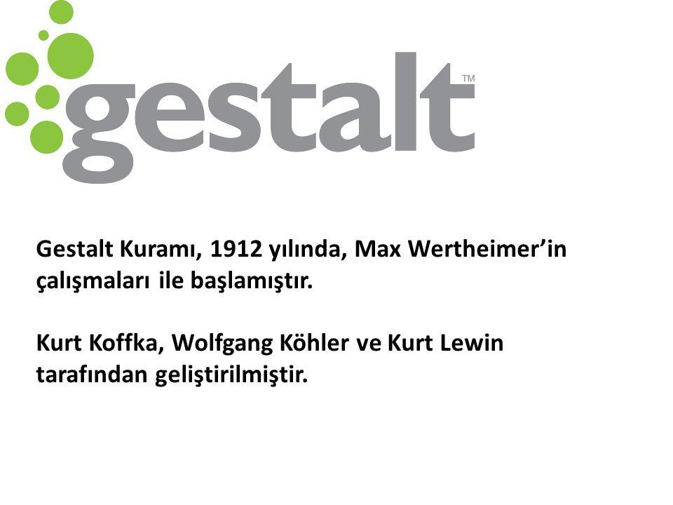 Gestalt Kuramı, 1912 yılında, Max Wertheimer'in çalışmaları ile başlamıştır.