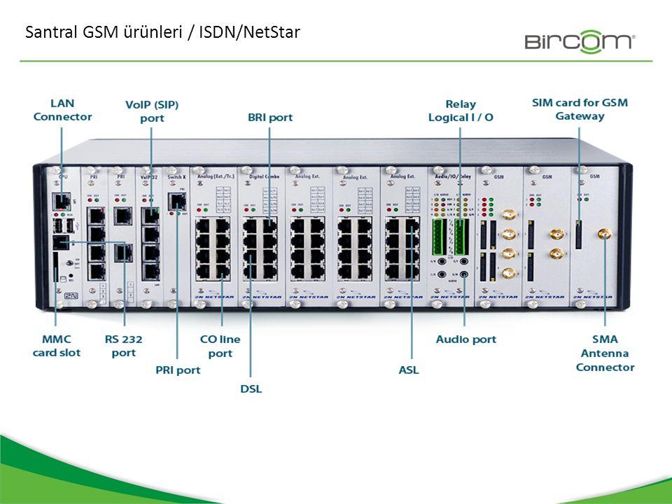 Santral GSM ürünleri / ISDN/NetStar