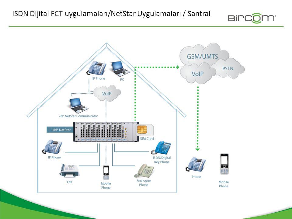 ISDN Dijital FCT uygulamaları/NetStar Uygulamaları / Santral
