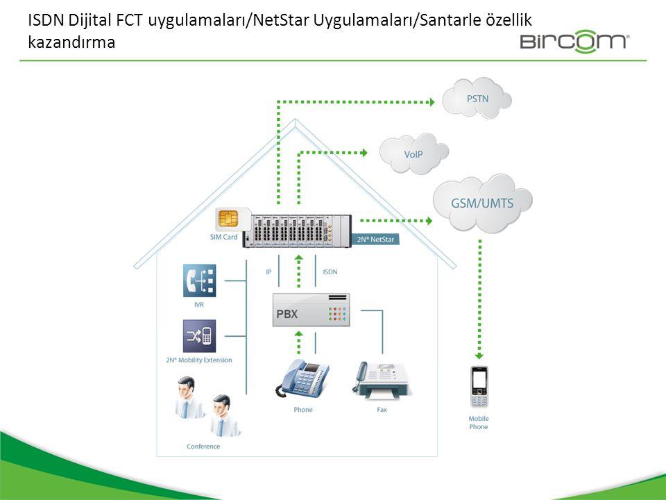 ISDN Dijital FCT uygulamaları/NetStar Uygulamaları/Santarle özellik kazandırma