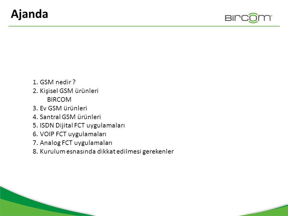 Ajanda 1. GSM nedir 2. Kişisel GSM ürünleri BIRCOM