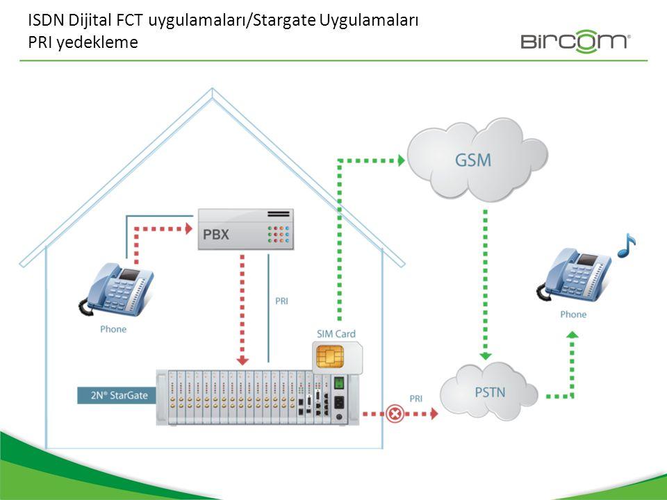 ISDN Dijital FCT uygulamaları/Stargate Uygulamaları