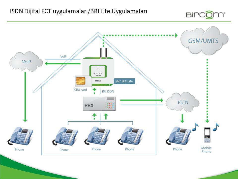 ISDN Dijital FCT uygulamaları/BRI Lite Uygulamaları