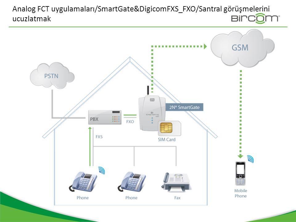 Analog FCT uygulamaları/SmartGate&DigicomFXS_FXO/Santral görüşmelerini