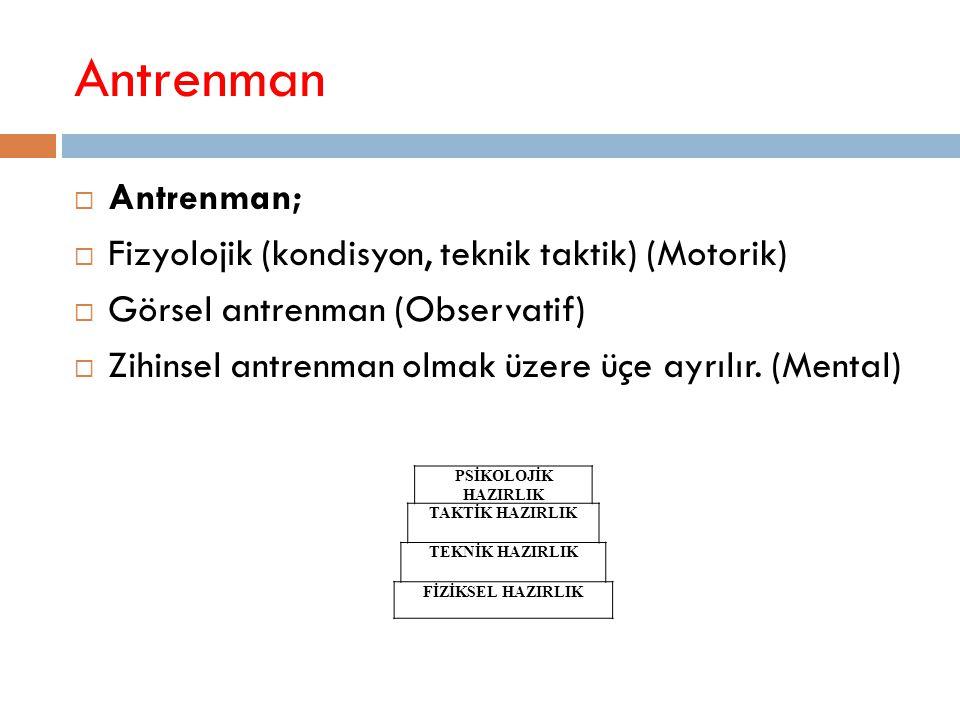 Antrenman Antrenman; Fizyolojik (kondisyon, teknik taktik) (Motorik)