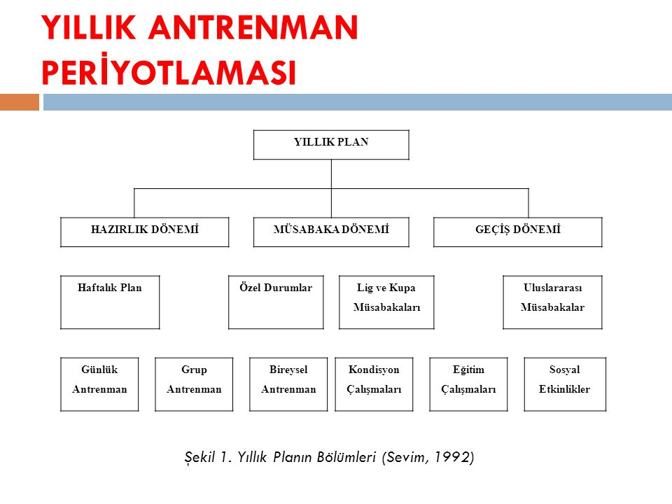 YILLIK ANTRENMAN PERİYOTLAMASI