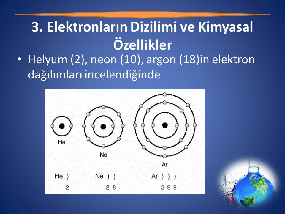 3. Elektronların Dizilimi ve Kimyasal Özellikler