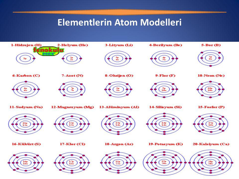 Elementlerin Atom Modelleri