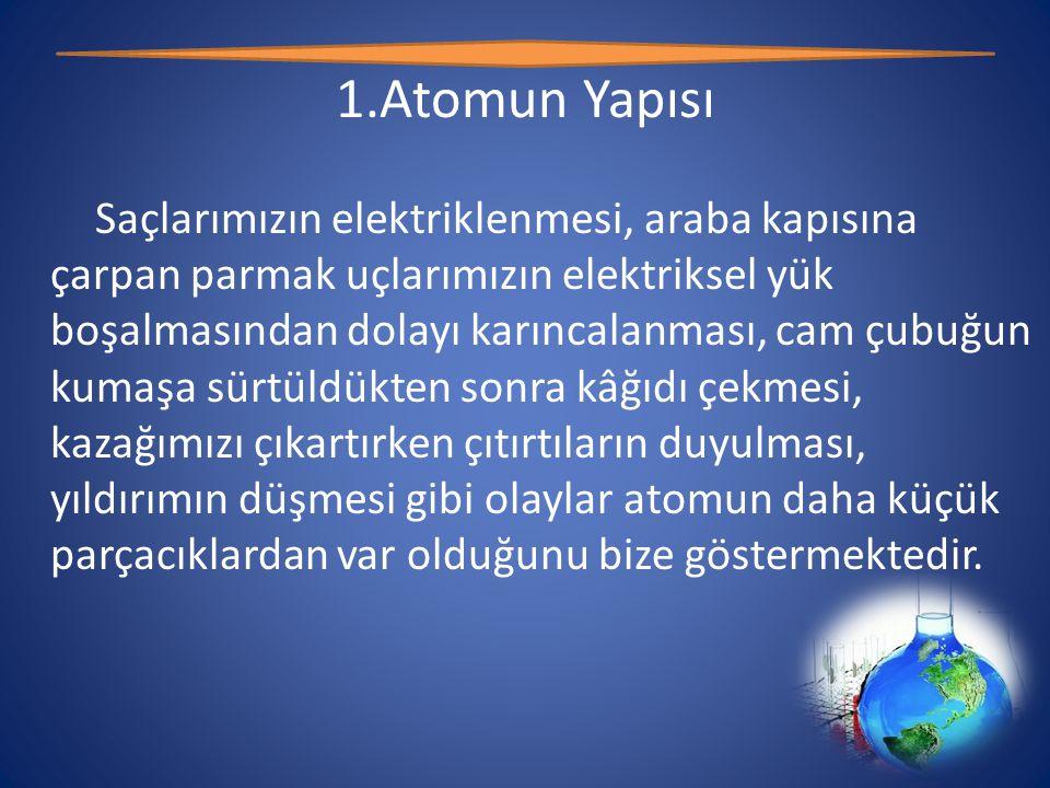 1.Atomun Yapısı