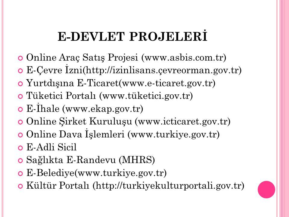 E-DEVLET PROJELERİ Online Araç Satış Projesi (www.asbis.com.tr)