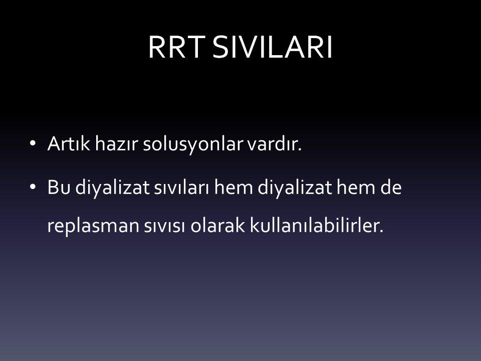 RRT SIVILARI Artık hazır solusyonlar vardır.