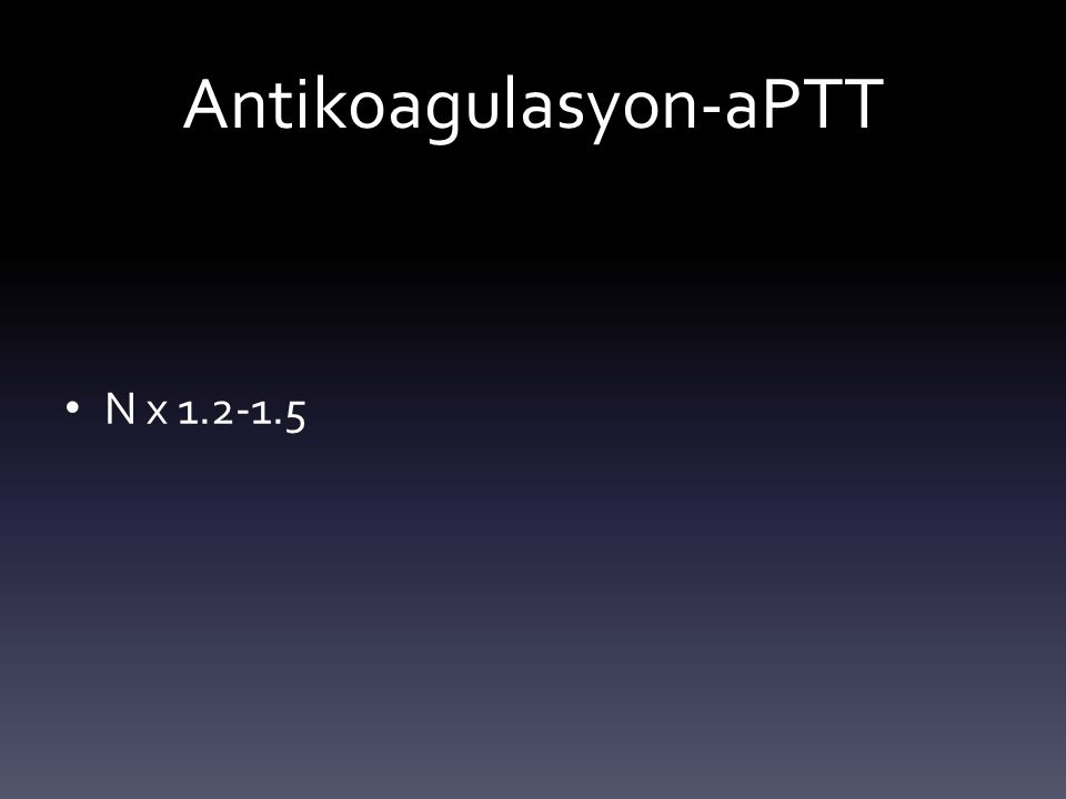 Antikoagulasyon-aPTT
