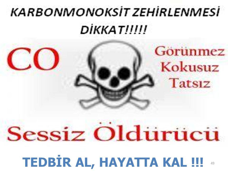 TEDBİR AL, HAYATTA KAL !!!