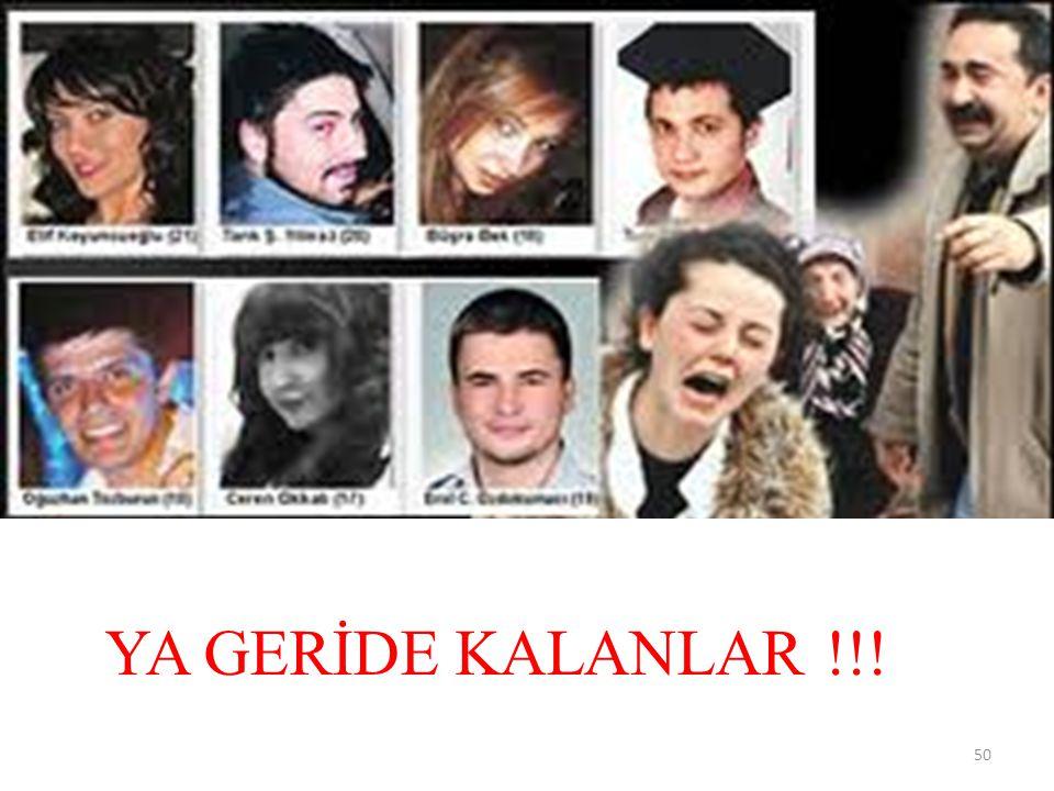 YA GERİDE KALANLAR !!!