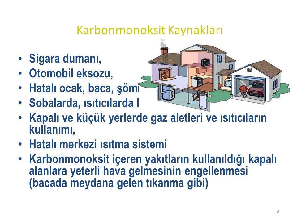 Karbonmonoksit Kaynakları