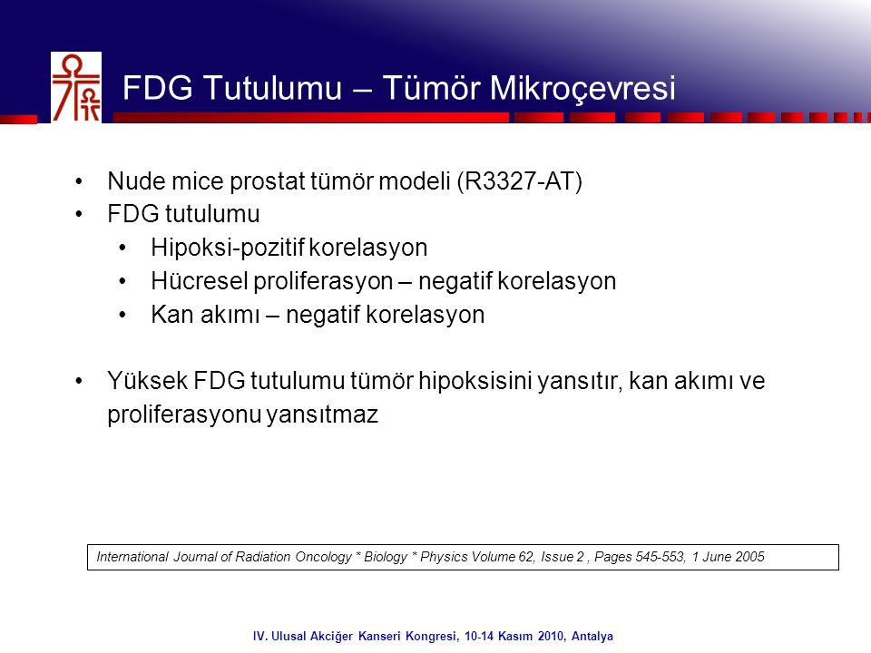 FDG Tutulumu – Tümör Mikroçevresi