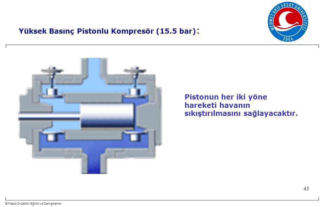 Yüksek Basınç Pistonlu Kompresör (15.5 bar):
