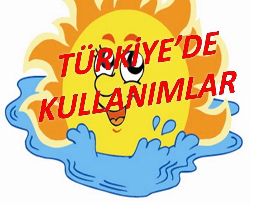 TÜRKİYE'DE KULLANIMLAR
