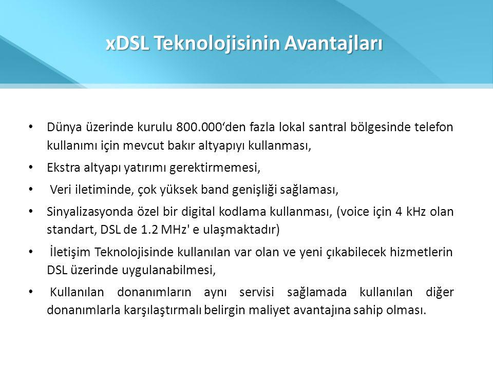 xDSL Teknolojisinin Avantajları