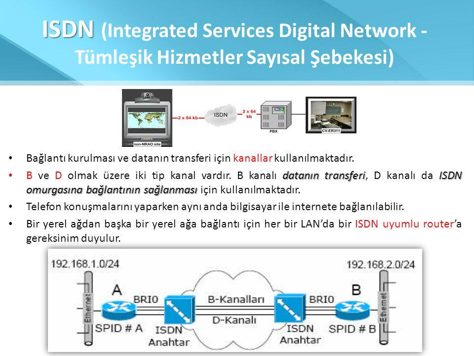 ISDN (Integrated Services Digital Network - Tümleşik Hizmetler Sayısal Şebekesi)