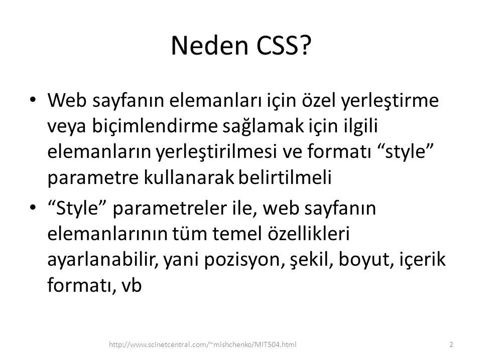 Neden CSS