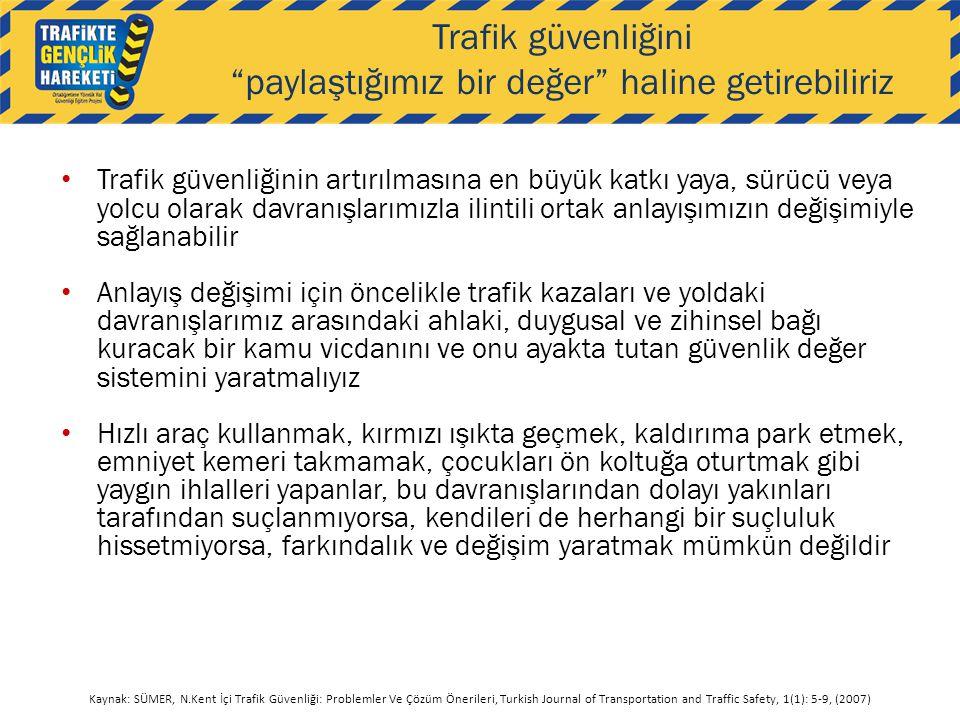 Trafik güvenliğini paylaştığımız bir değer haline getirebiliriz