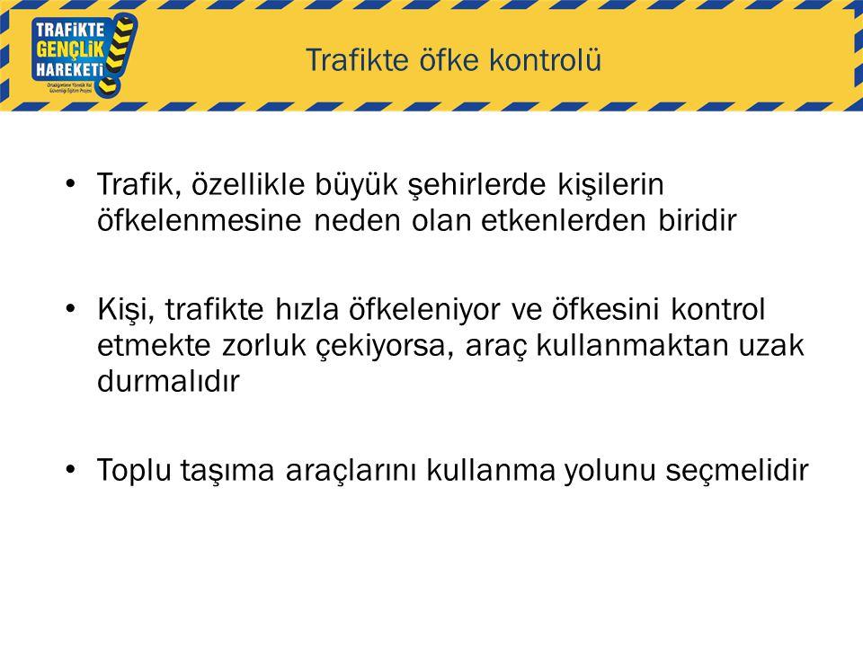 Trafikte öfke kontrolü