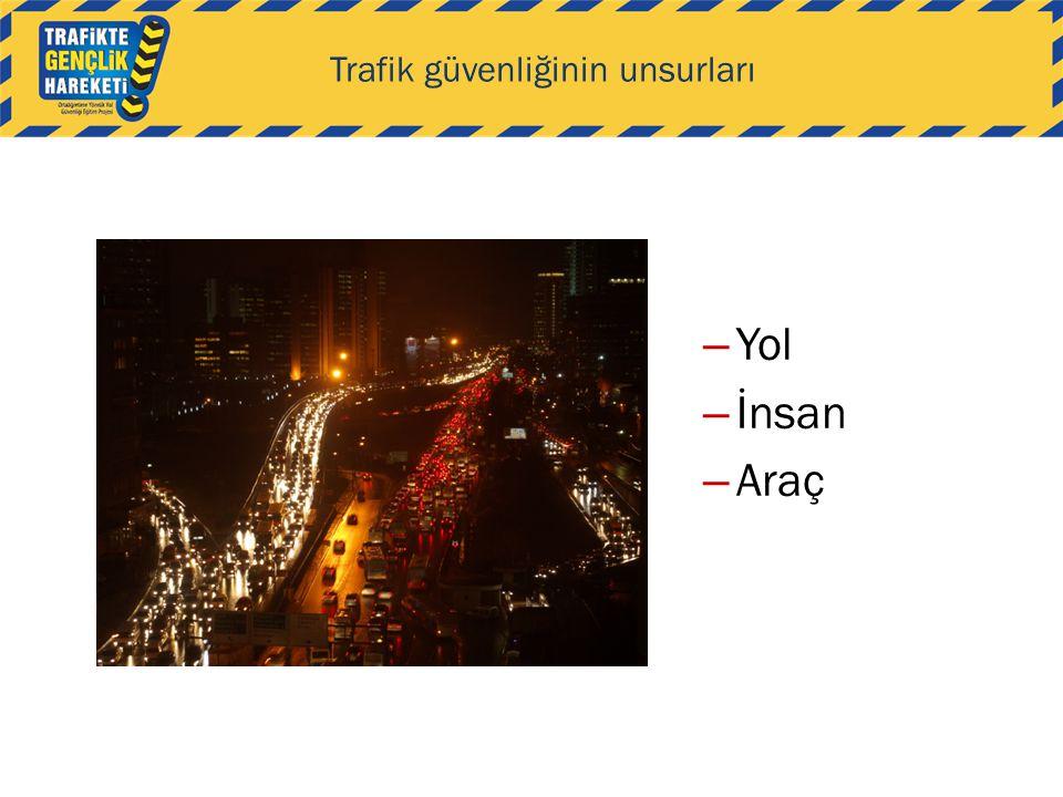 Trafik güvenliğinin unsurları