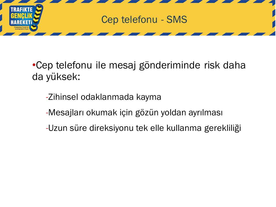 Cep telefonu ile mesaj gönderiminde risk daha da yüksek: