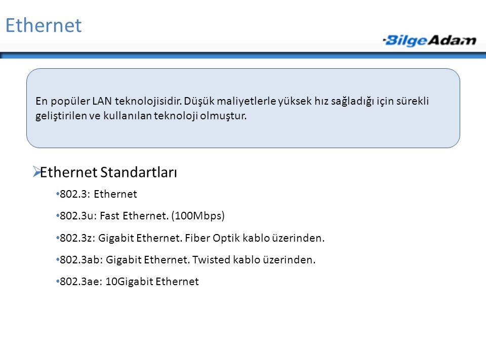 Ethernet Ethernet Standartları