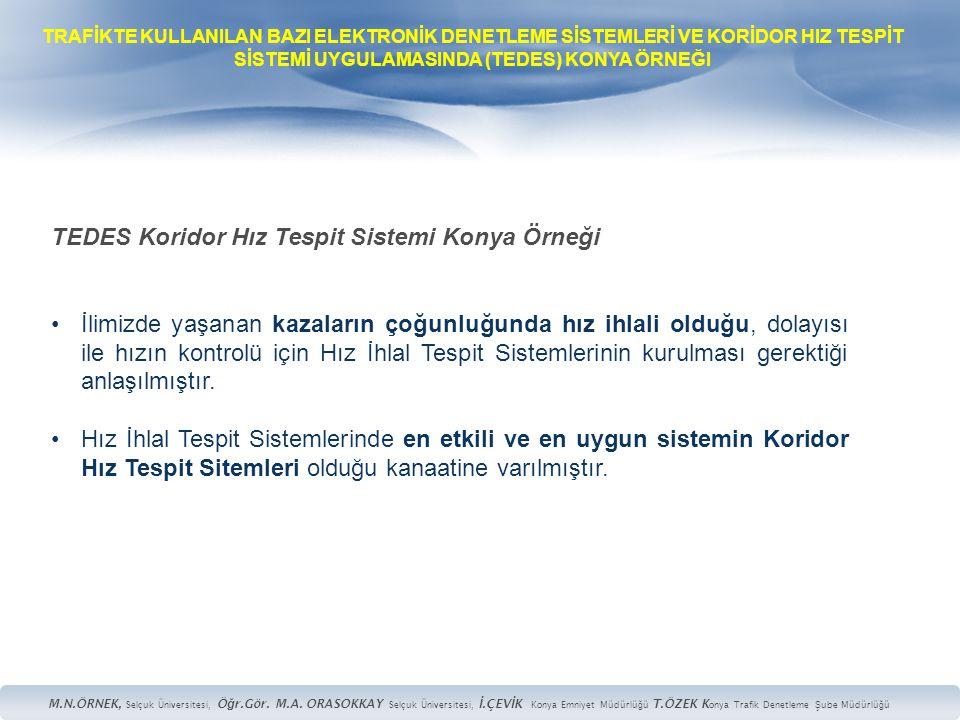 TEDES Koridor Hız Tespit Sistemi Konya Örneği