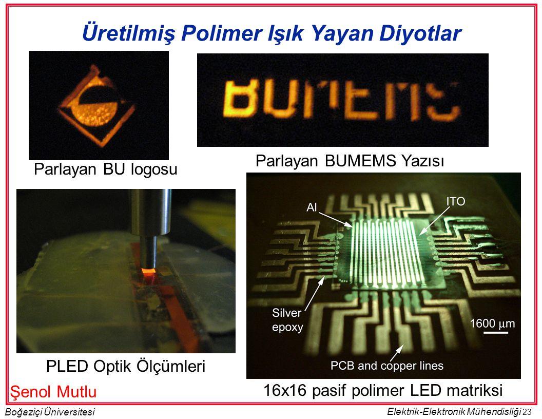 Üretilmiş Polimer Işık Yayan Diyotlar