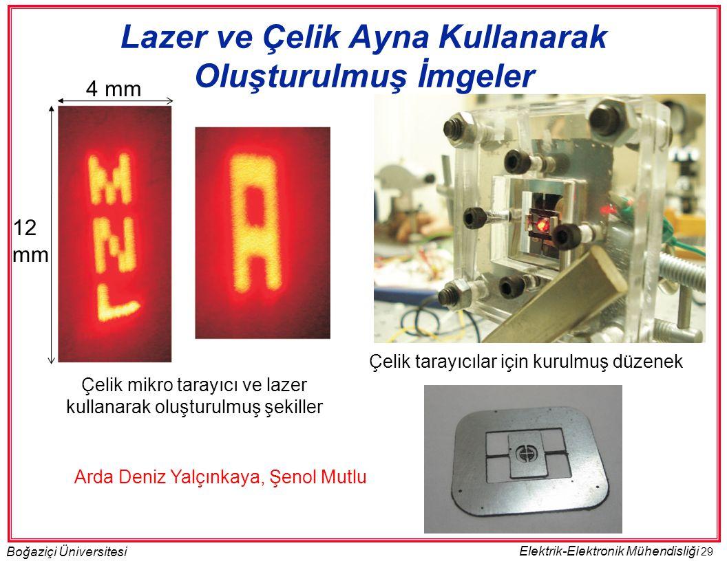 Lazer ve Çelik Ayna Kullanarak Oluşturulmuş İmgeler