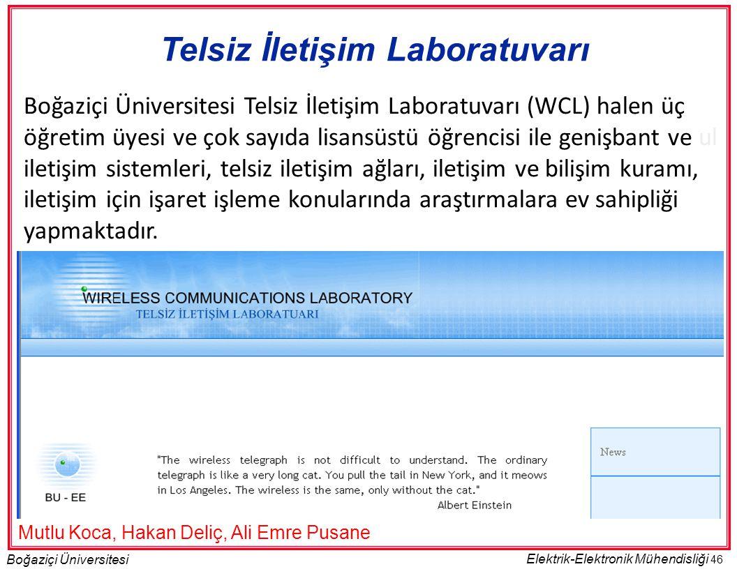 Telsiz İletişim Laboratuvarı