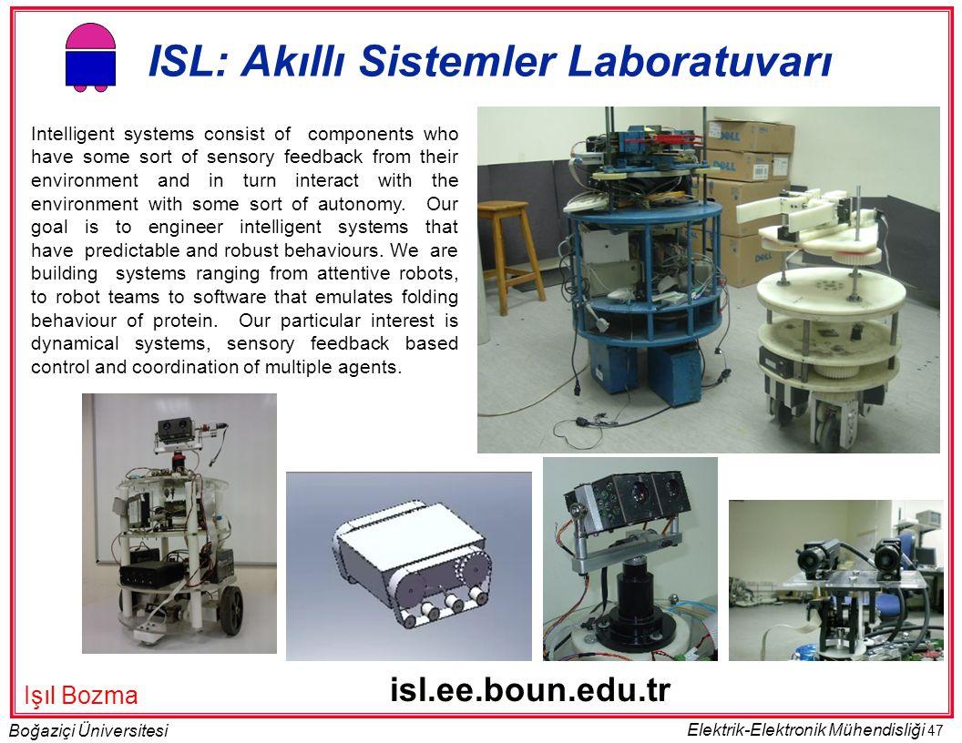 ISL: Akıllı Sistemler Laboratuvarı