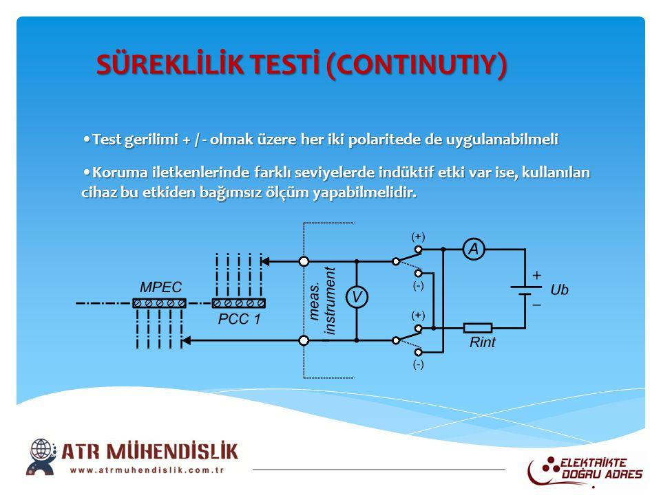 SÜREKLİLİK TESTİ (CONTINUTIY)