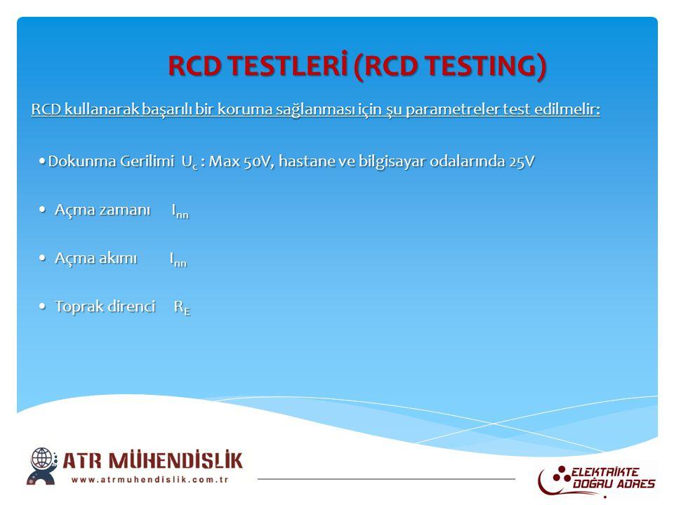 RCD TESTLERİ (RCD TESTING)