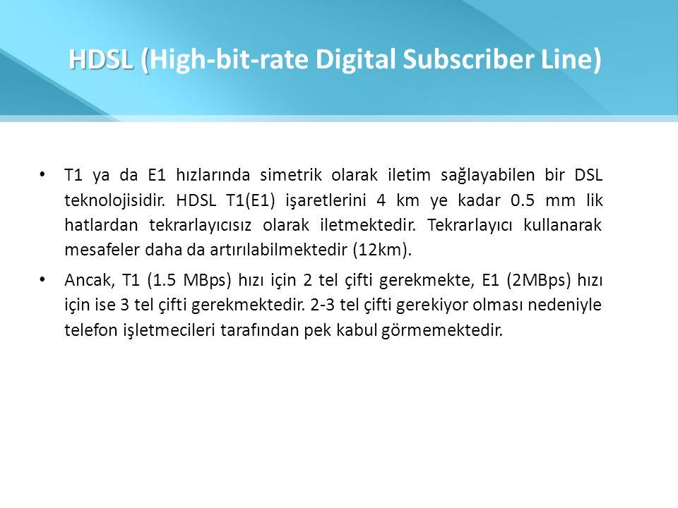 HDSL (High-bit-rate Digital Subscriber Line)