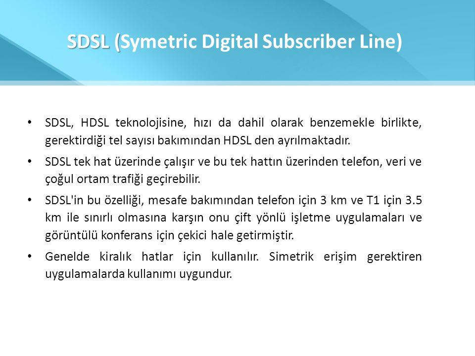 SDSL (Symetric Digital Subscriber Line)