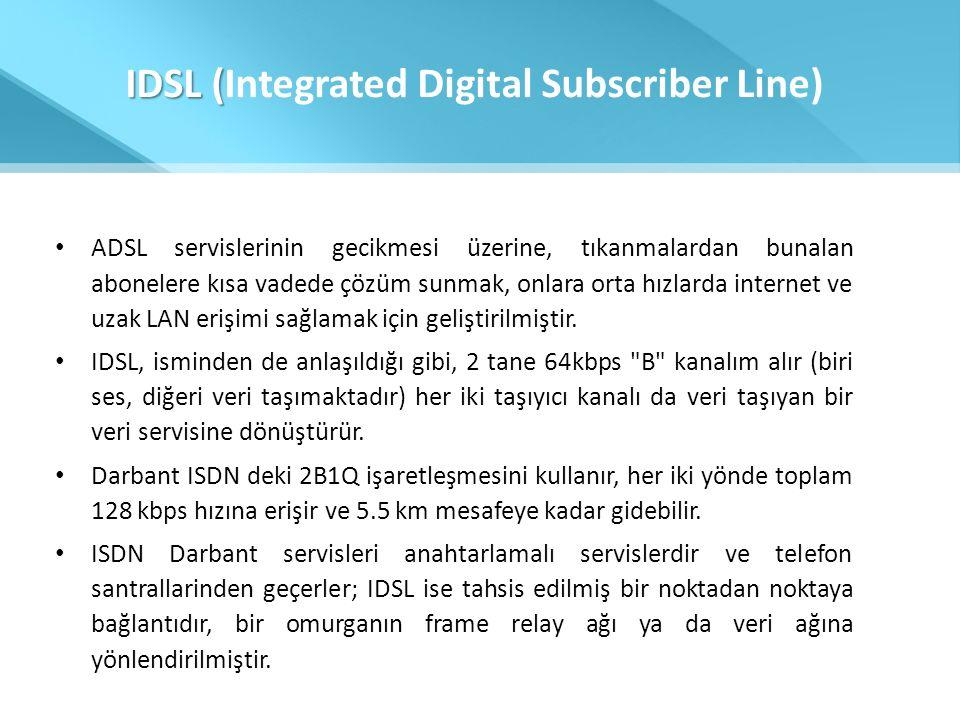IDSL (Integrated Digital Subscriber Line)
